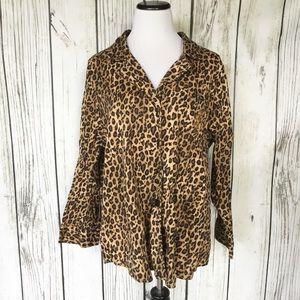 Lauren Ralph Lauren Leopard pajama Top